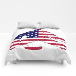 American Flag Goalie Comforters