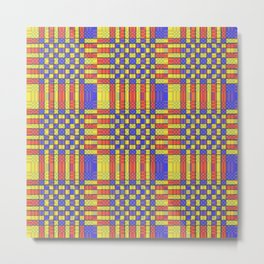 PRIMARY CHECKERS Metal Print