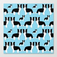 border collie Canvas Prints featuring Border Collie  by Heroinax