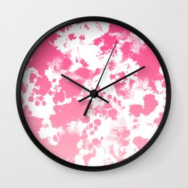 Piper - abstract ombre minimal pink fade hot pink neon girly trendy art minimal design Wall Clock