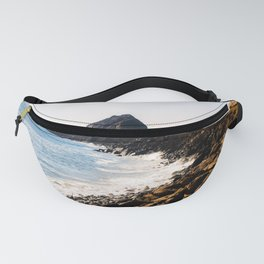 road with blue ocean view at Point Mugu State Park, California, USA Fanny Pack
