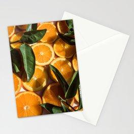 Orange Fruit Pattern Photography Stationery Cards