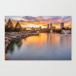 Tulsa Skyline Sunset - Oklahoma Cityscape Canvas Print