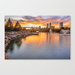 Tulsa Skyline Sunset - Oklahoma Cityscape Canvas Print