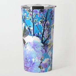 Blue Blossum Travel Mug