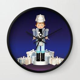Little Drummer Boy on Christmas Eve Wall Clock