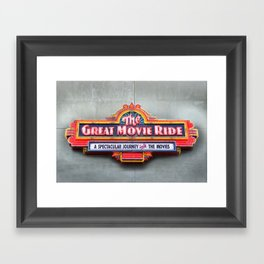 Original Art Photograph Great Movie Ride Neon Marquee Sign GMR Framed Art Print
