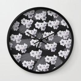Narcissus pattern 2 Wall Clock