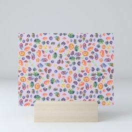 Pattern- watercolour gems P2 Mini Art Print