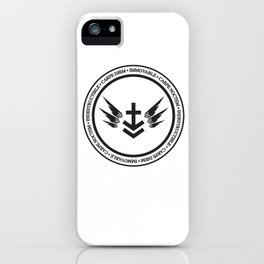 Immovable & Indestructible (Black Design) iPhone Case