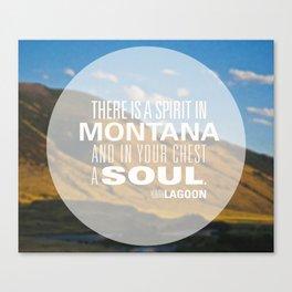Spirit in Montana  Canvas Print