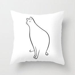 Linear Cat 01 Throw Pillow