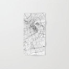 Shanghai White Map Hand & Bath Towel