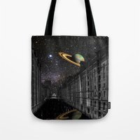saturn Tote Bags featuring Saturn by Cs025