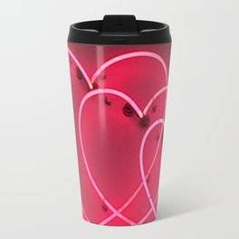 Neon Hearts Travel Mug