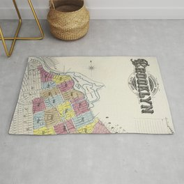 Sanborn Fire Insurance Map from Brooklyn Kings County New York (1888) by Sanborn Map Company Rug