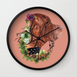 Flower puppy Wall Clock
