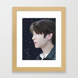 Leo's Starlight Framed Art Print