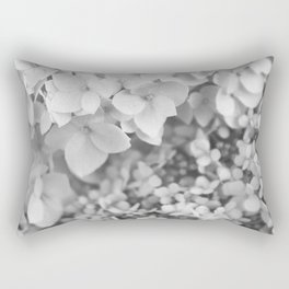 Flowers Blooming (Black and White) Rectangular Pillow