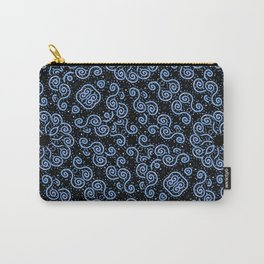 Spirals and Dots Motif Ornate Print Carry-All Pouch