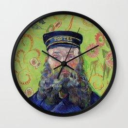 Vincent Van Gogh Postman Portrait Of Joseph Roulin Wall Clock
