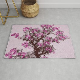 Acacia blossom tree in late spring Rug