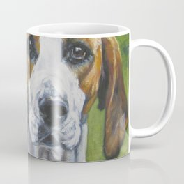 English Foxhound dog art portrait from an original painting by L.A.Shepard Coffee Mug