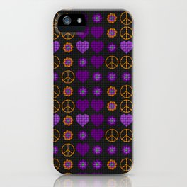 Halloween Peace Holiday Weave iPhone Case