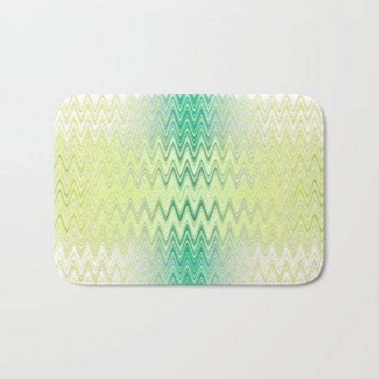Textile-aqua & lemon Bath Mat