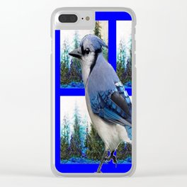MOUNTAIN BLUE JAY SCENIC ART Clear iPhone Case