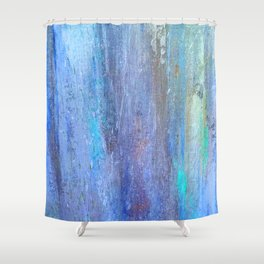 Edges of the Sky in Blues, Aquas and Green Shower Curtain