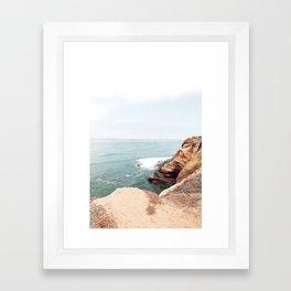 Cliffside Stairs Framed Art Print