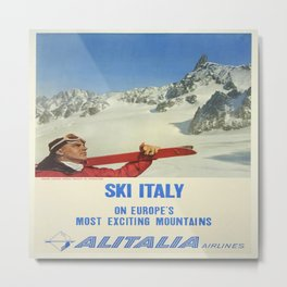 Vintage poster - Ski Italy Metal Print
