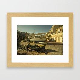 St Julian's golden boats Framed Art Print