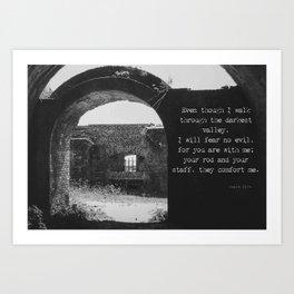 Psalm 23 4 Art Print