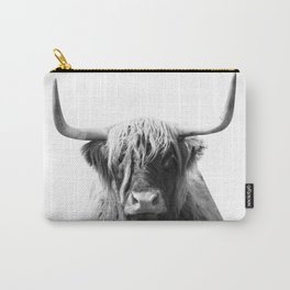 Highland cow | Black and White Photo Carry-All Pouch