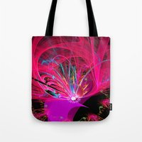 firefly Tote Bags featuring Firefly by Roger Wedegis