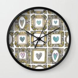 love heart frames Wall Clock
