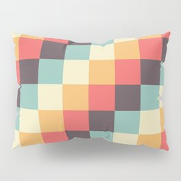 When dad was young - Pixel pattern in muted pastel colors Pillow Sham