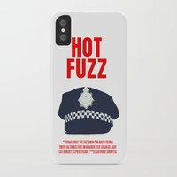 hot fuzz iPhone & iPod Cases featuring Hot Fuzz Movie Poster by FunnyFaceArt