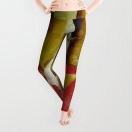 Red Ballet Slippers Leggings