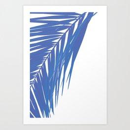 PALM BLUES Art Print