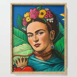 Frida Flowers Serving Tray