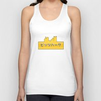 pittsburgh Tank Tops featuring Tokyo Pittsburgh by Malc Doodle
