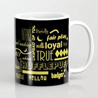 hufflepuff Mugs featuring Hufflepuff by husavendaczek