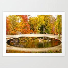 Bow Bridge at Central Park Art Print