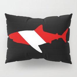 Diving Flag: Shark Pillow Sham