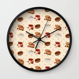 Dough & Mocha Wall Clock