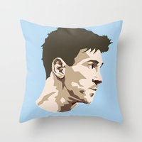 messi Throw Pillows featuring Messi by The World Cup Draw