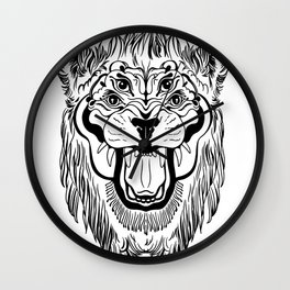The Four Eyed Lion Wall Clock